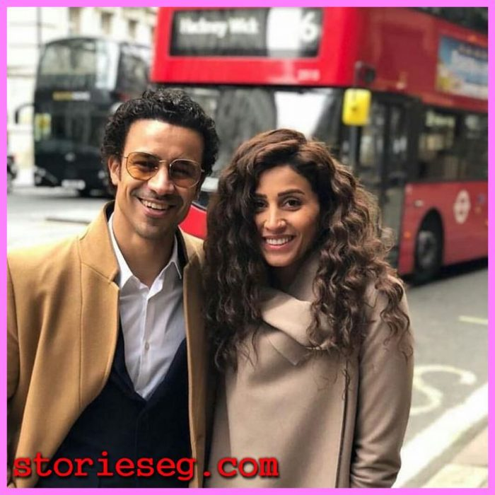 أحمد داود مع الفنانة دينا الشربينى
