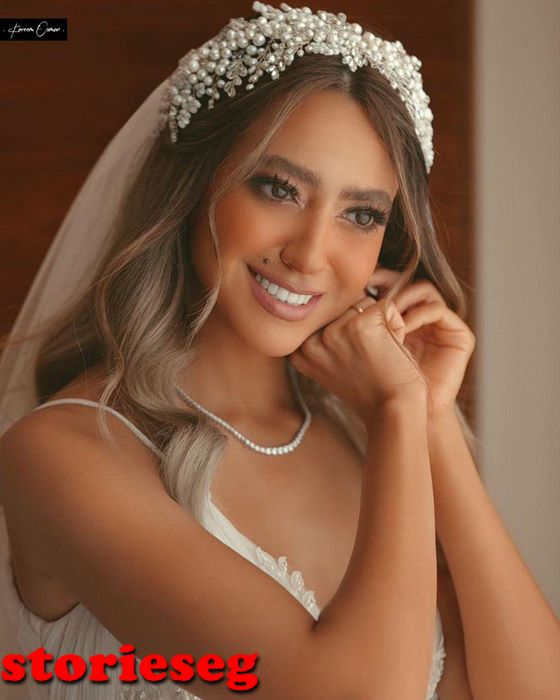 هند عبد الحليم من زفافها