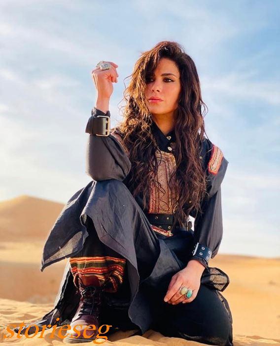 النجمة صبا مبارك بطلة مسلسل حارس الجبل