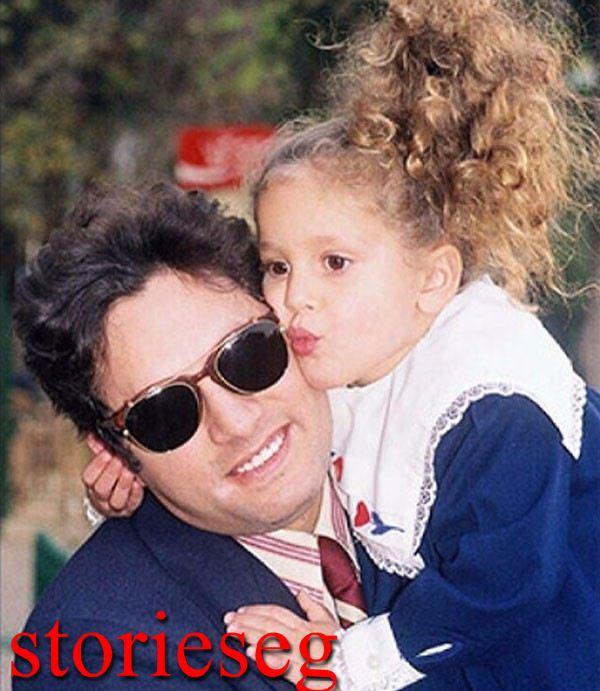 جميلة عوض و هى طفلة مع ابيها