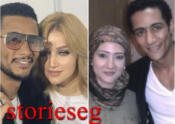 محمد رمضان و زوجته الاولي و الثانية