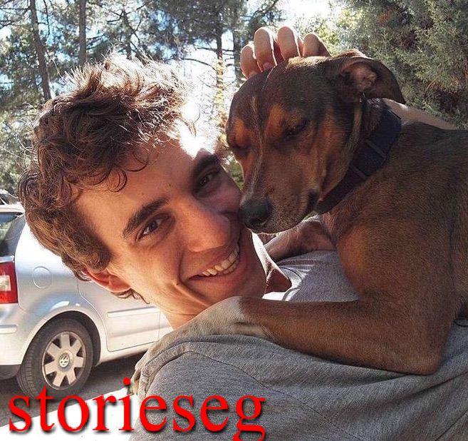 ميغيل مع كلبه المفضل