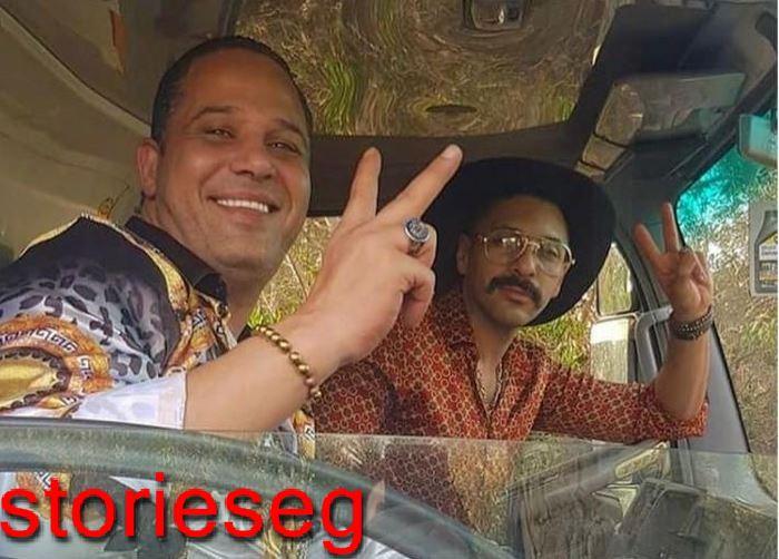 حسن أبو الروس مع الممثل مصطفي