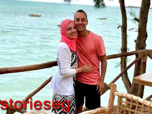عمرو وهبة مع زوجته