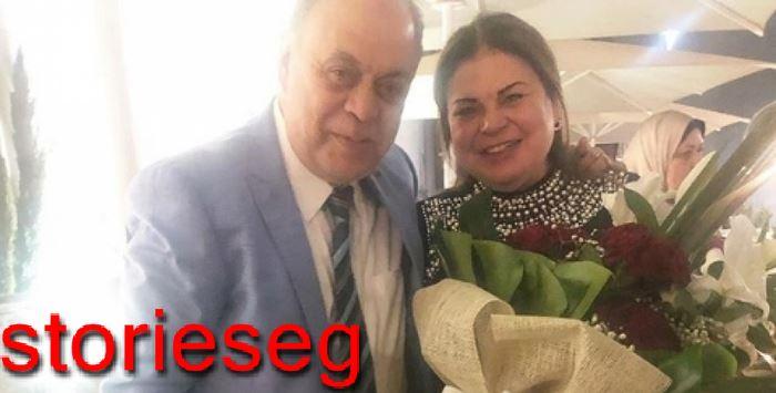 ماجدة زكي مع شقيقها اشرف زكي