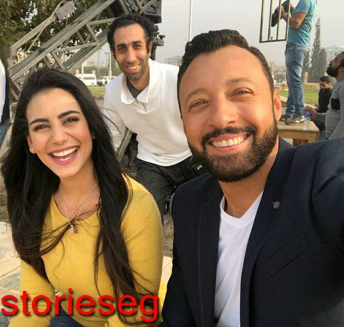 ولاء الشريف مع الممثل احمد فهمي