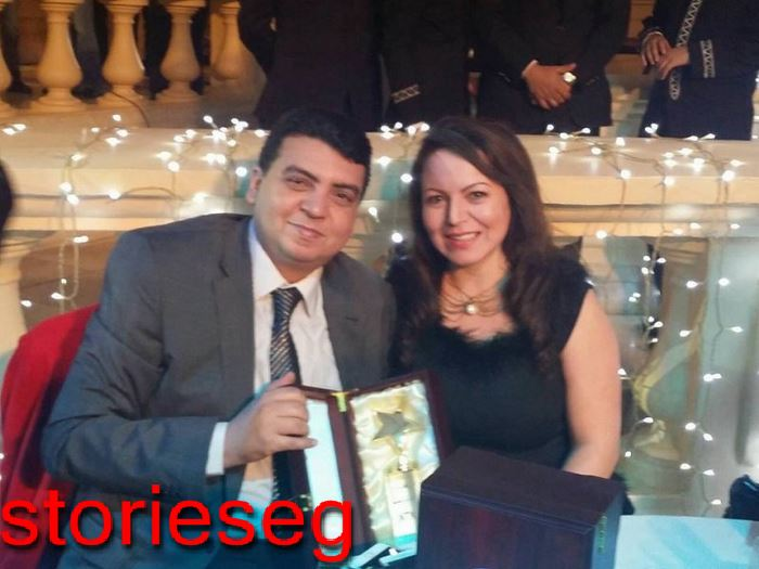 هدي الادريسي وزوجها