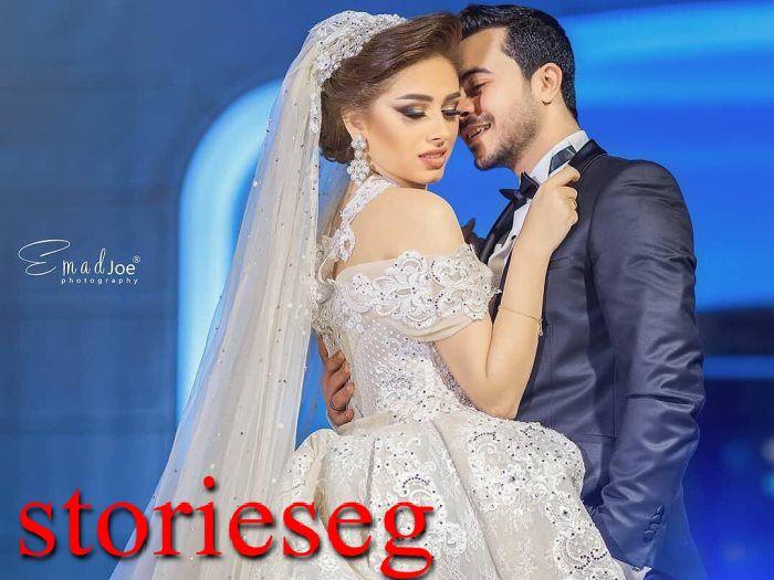طه خليفة وزوجته من سشن صور الزفاف