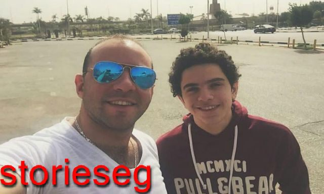 كريم عبد الجواد مع شقيقه الاصغر