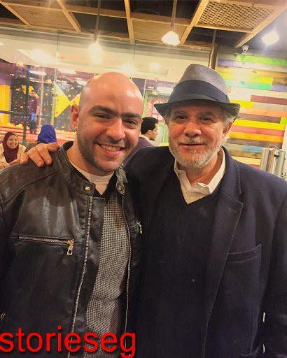كريم عبد الجواد مع والده الفنان محمد عبد الجو