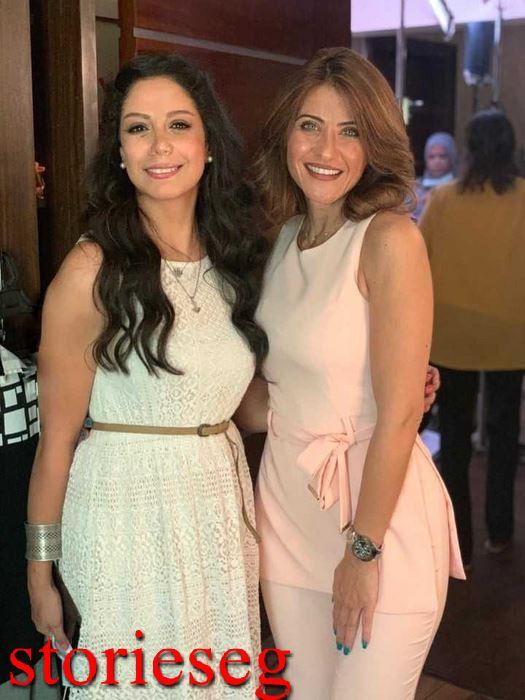 ياسمين رحمي مع الممثلة هيدي كرم