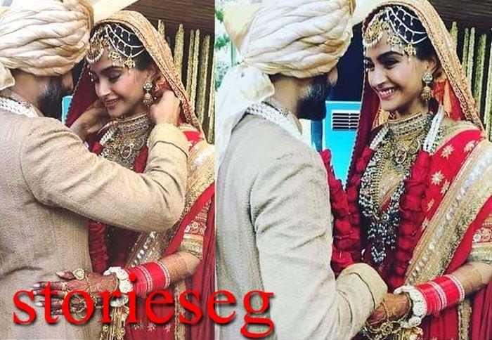 سونار كابور وزوجها من حفلة زفافها