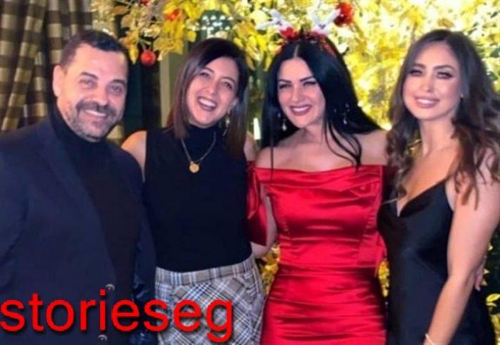 صورة من حفل الكريسماس للمخرج طارق العريان