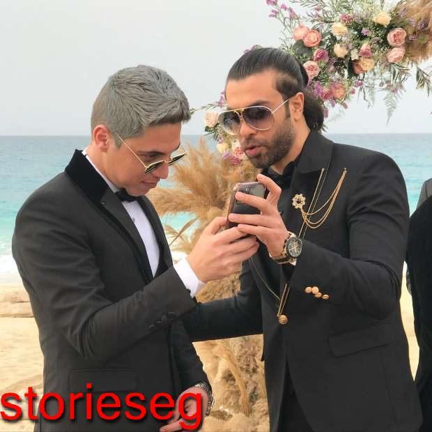حليم بركات و احمد امام في مشهد بمسلسل الطاووس