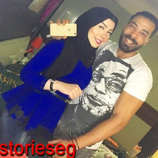 خالد حجاج مع شقيقته المذيعة دنيا حجاج
