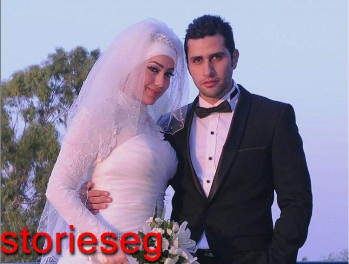 علي الطيب و زوجته يوم الزفاف